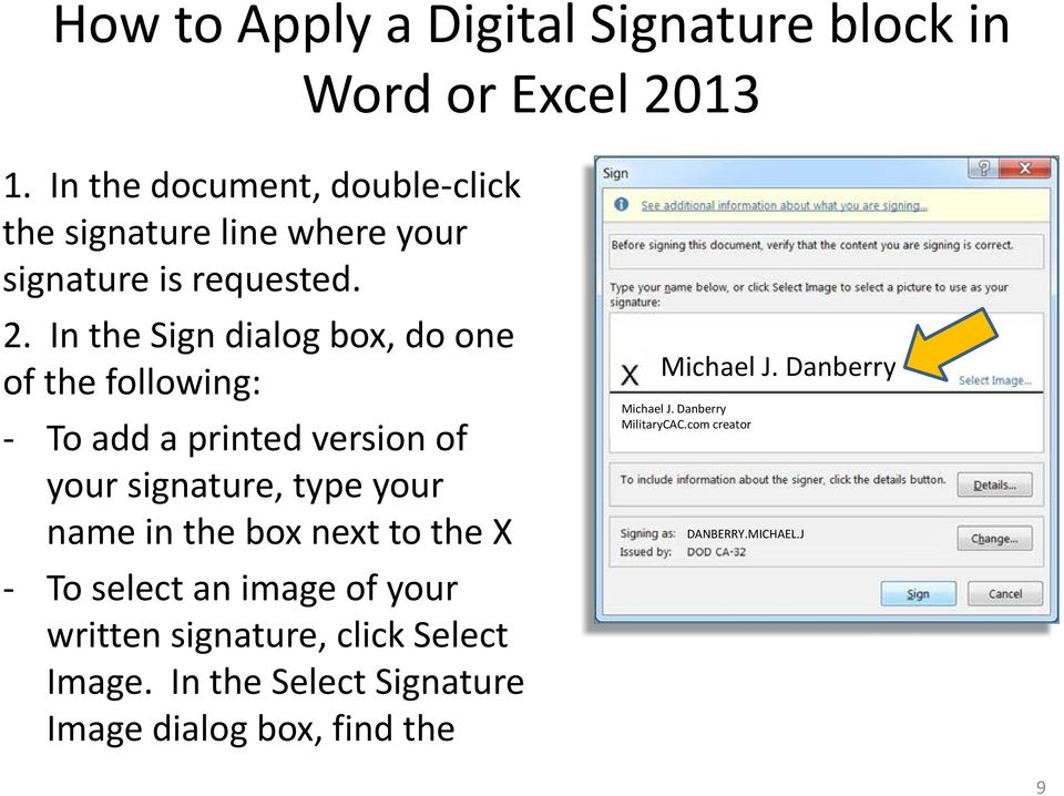 Adding and Applying a Digital Signature block in Word or Excel PDF