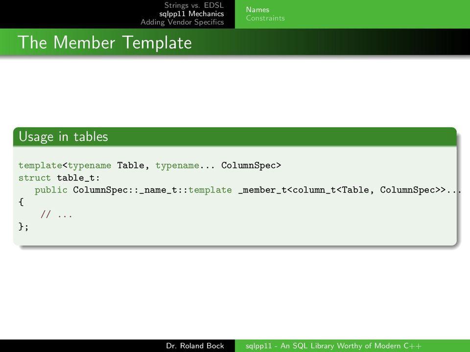 sqlpp11 - An SQL Library Worthy of Modern C++ - PDF