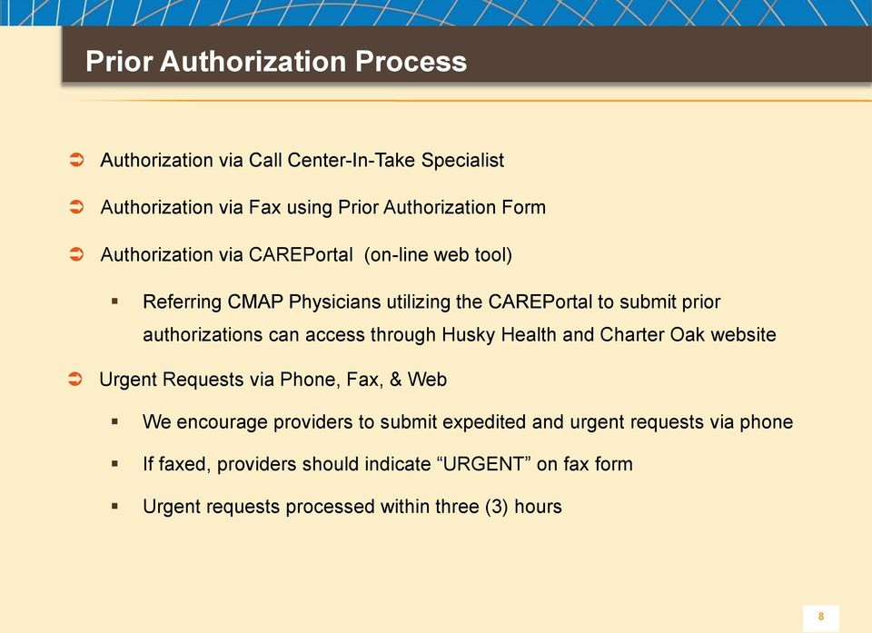 HUSKY Health Program and Charter Oak Health Plan Radiology Benefits - fax authorization form