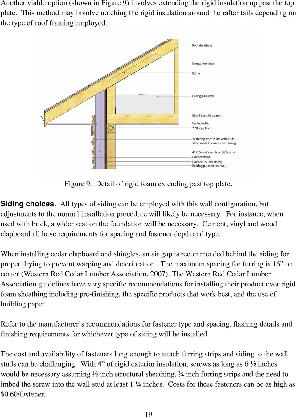 Rigid Insulation Types Practical Residential Wall Systems R 30 And Beyond Pdf