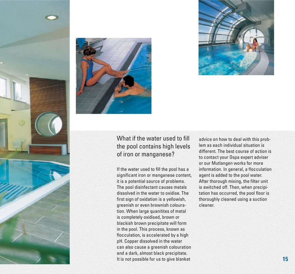 Filteranlage Pool 50m3 Ospa Water Care Guide For Private Swimming Pools And Whirlpools Pdf