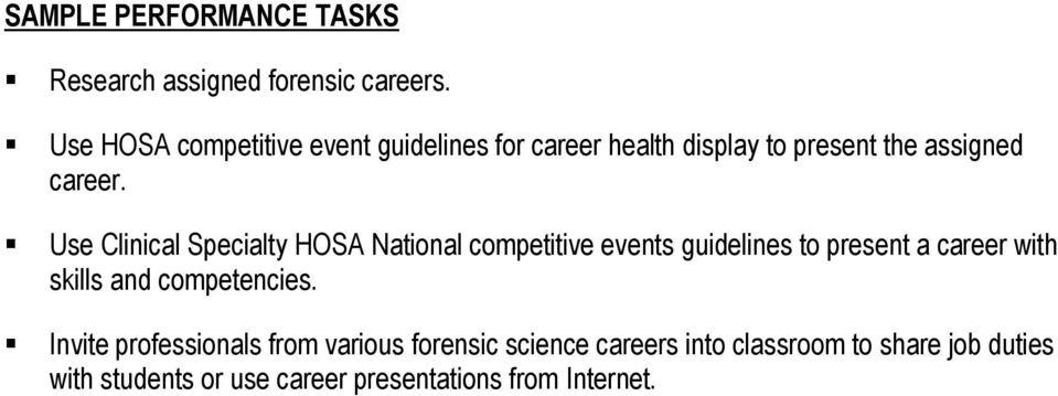 FORENSIC SCIENCE COURSE DESCRIPTION - PDF