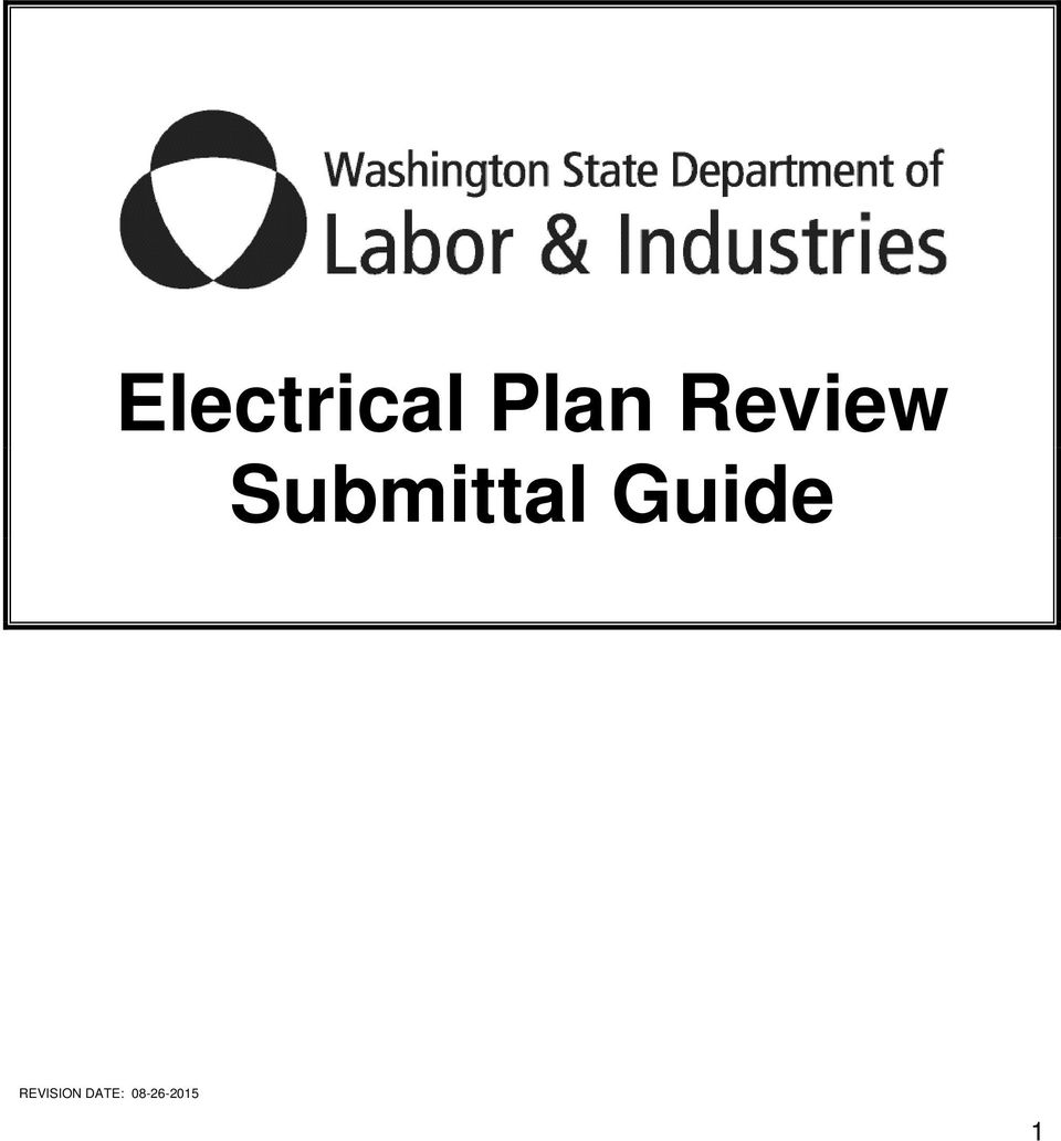 electrical plan review requirements