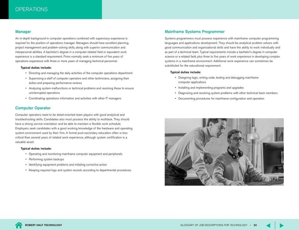 Glossary of job descriptions - PDF