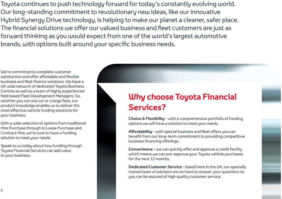 Efficient cars, efficient finance and perfect business sense Fleet