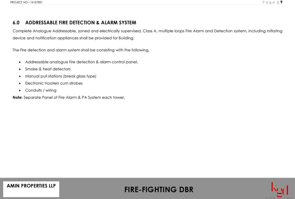 FIRE-FIGHTING DESIGN BRIEF REPORT - PDF