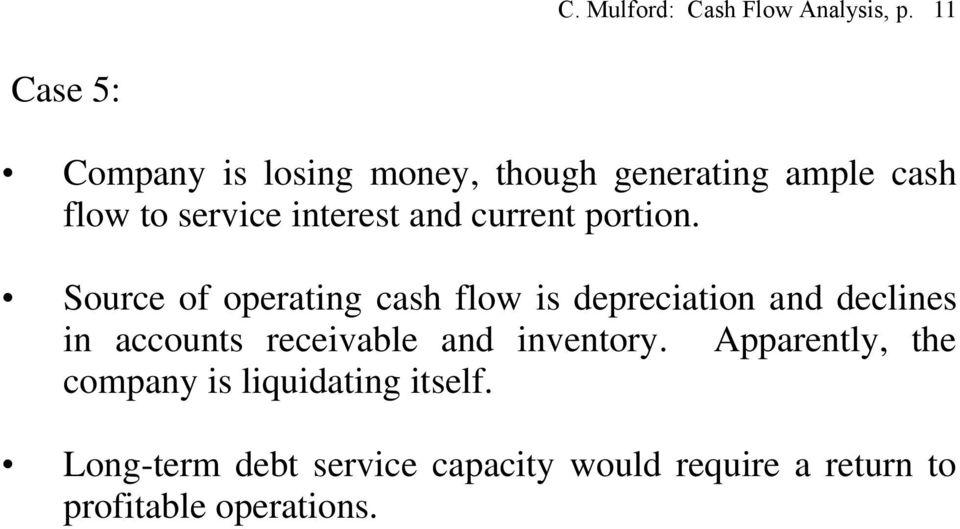 Cash Flow Analysis Modified UCA Cash Flow Format - PDF