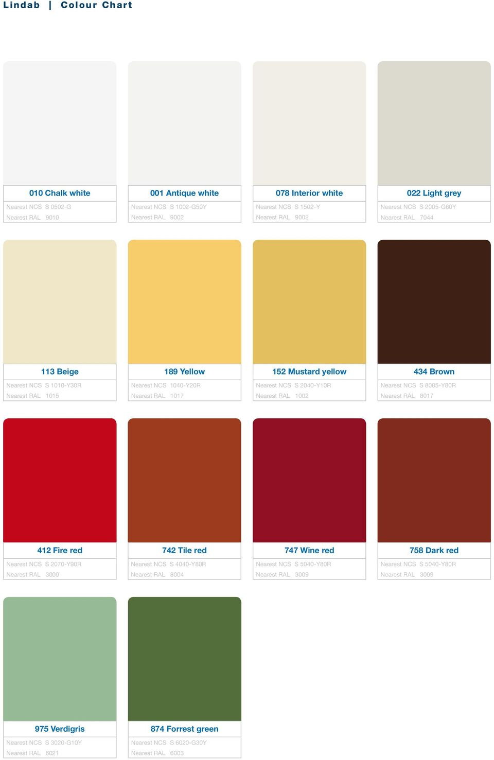 Colour Ral 9010 Lindab Colour Chart For Every Colour Under The Rainbow Pdf
