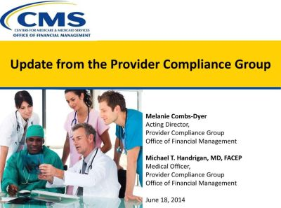 Provider Audit. Charlotte Benson. CMS, Office of Financial Management, Financial Services Group ...