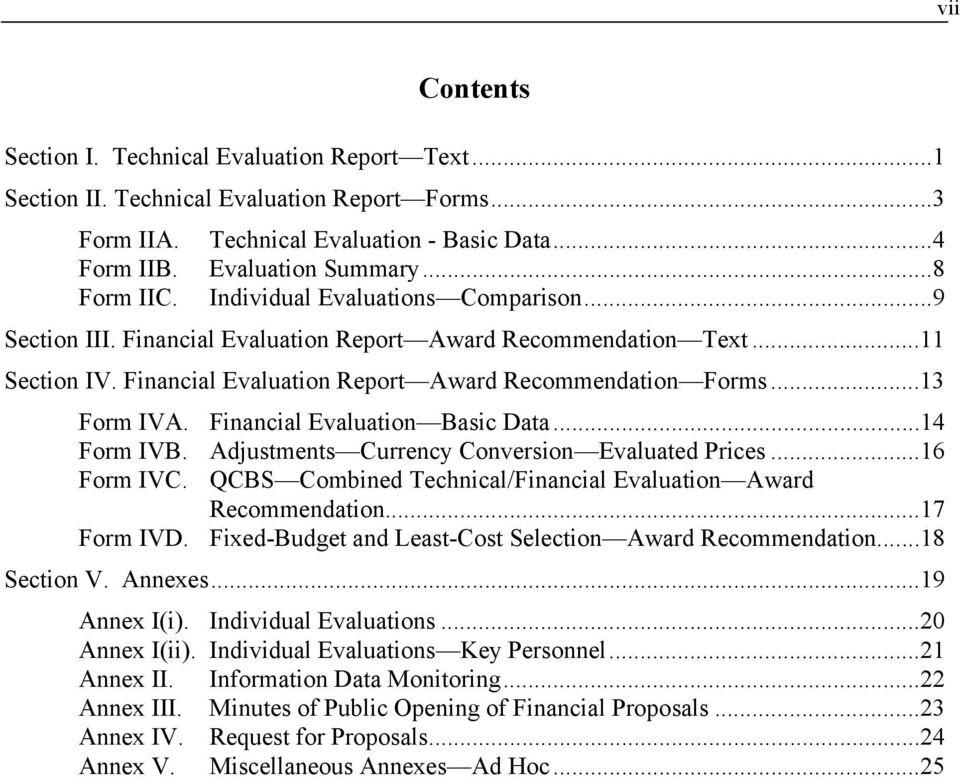 SAMPLE FORM OF EVALUATION REPORT SELECTION OF CONSULTANTS - PDF