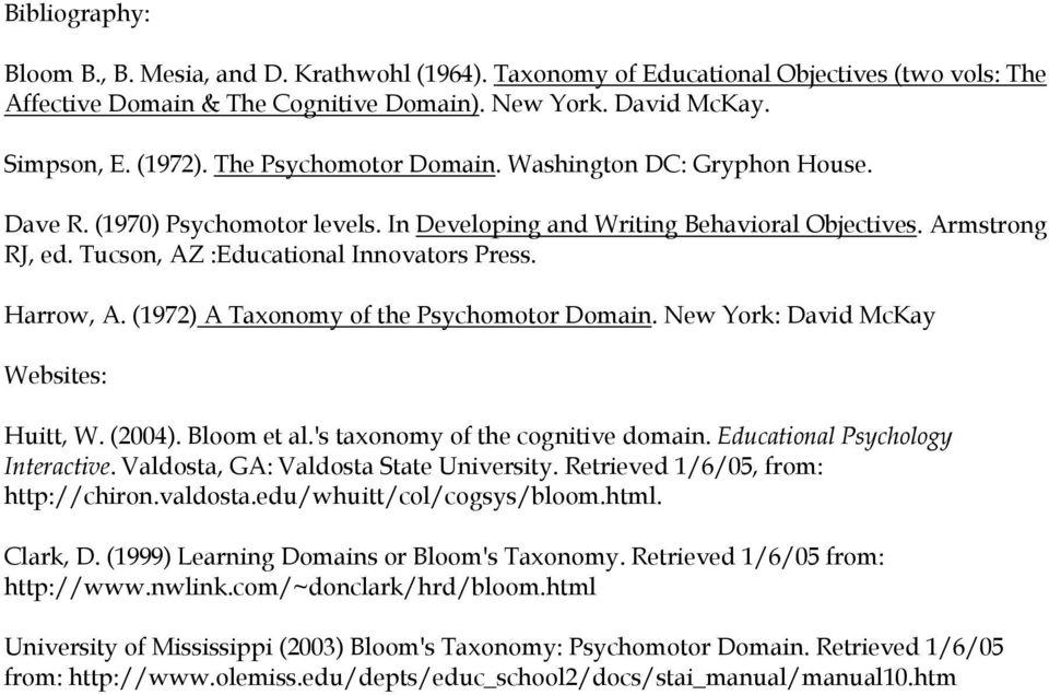 Cognitive Domain (Bloom) - PDF