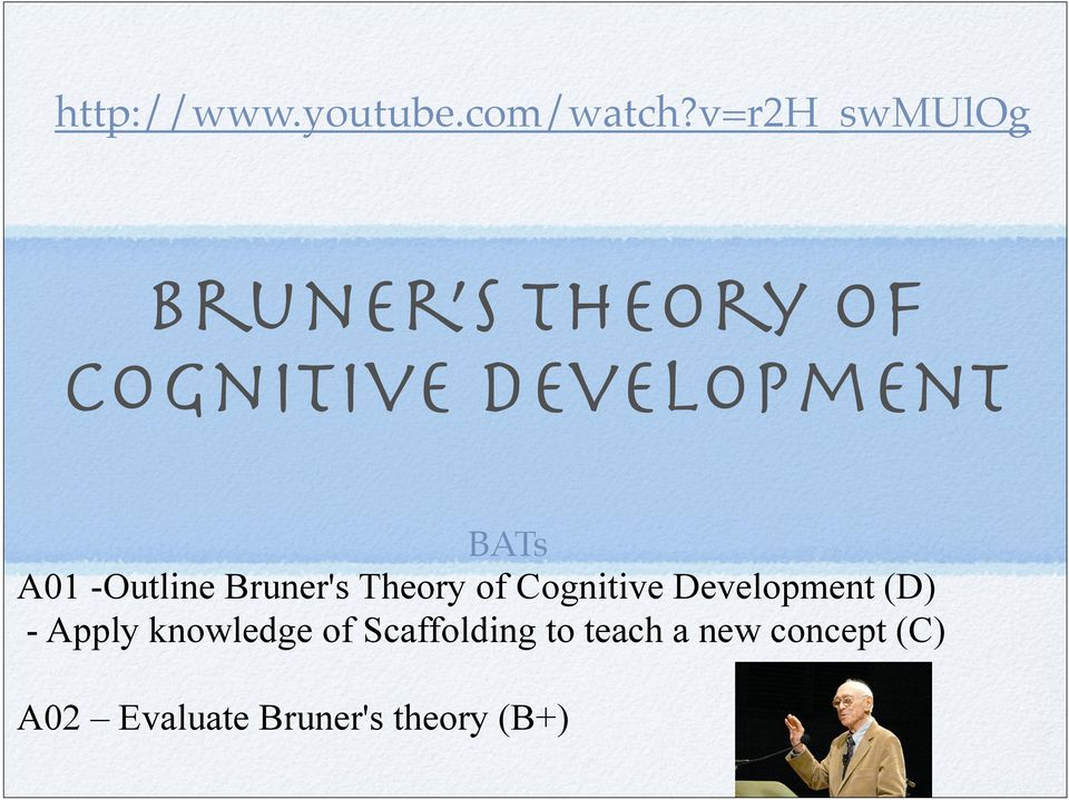Bruner s Theory of Cognitive Development - PDF