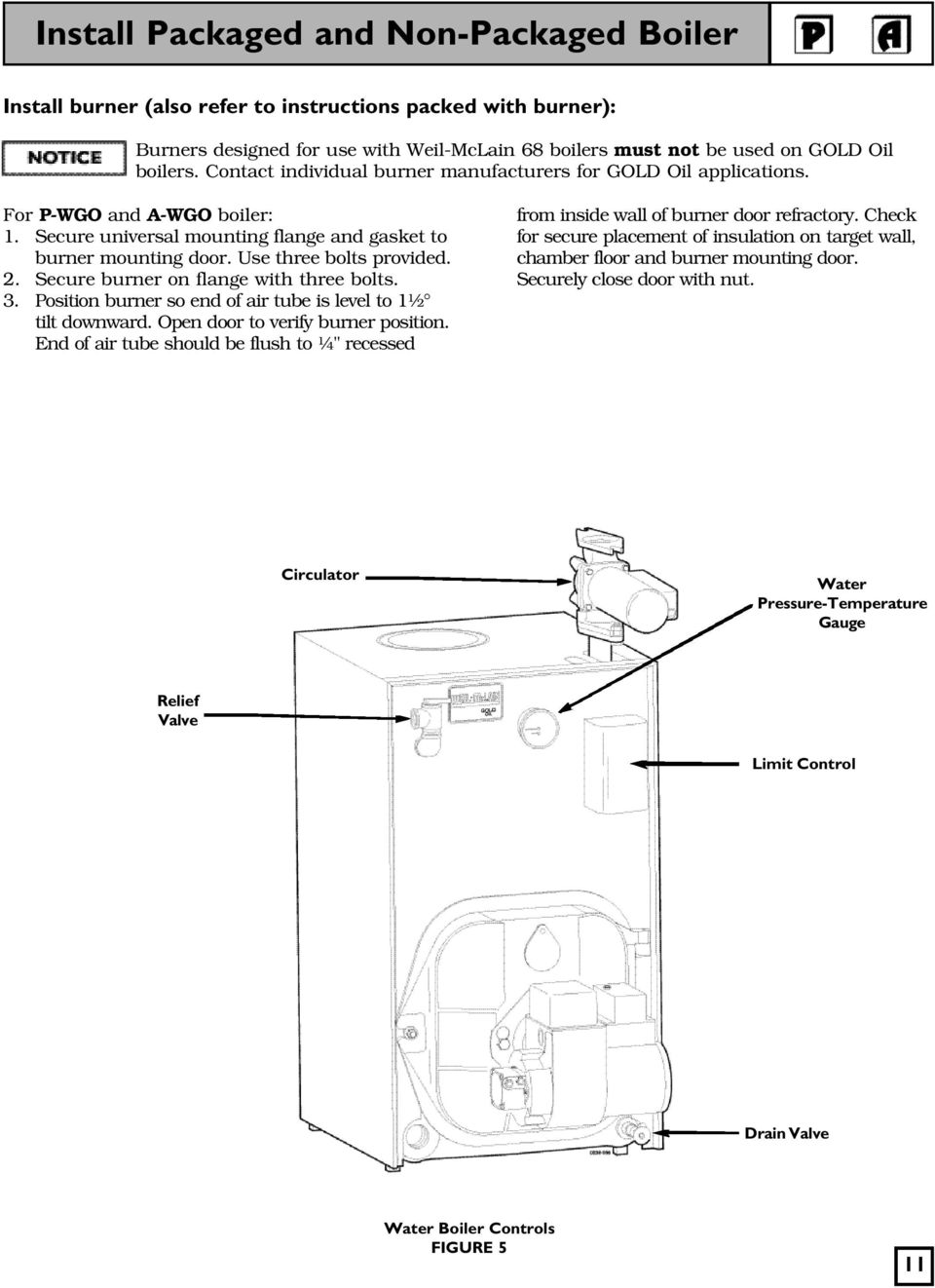 Closein Boiler Wgo Series 3 Oil Fired Natural Draft Water Boiler Pdf
