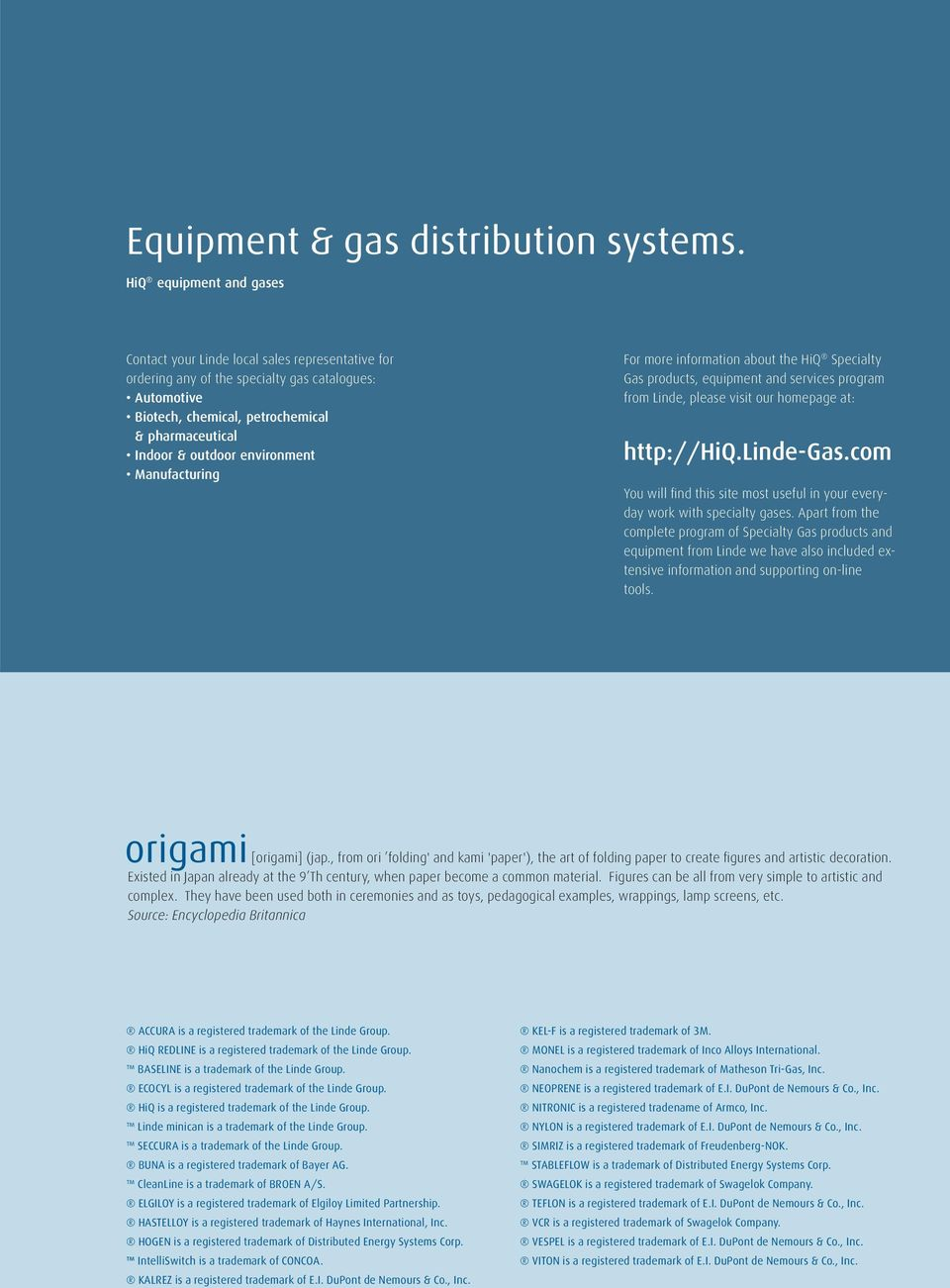 Apart Katalog Online Equipment Gas Distribution Systems Hiq Specialty Gas Program