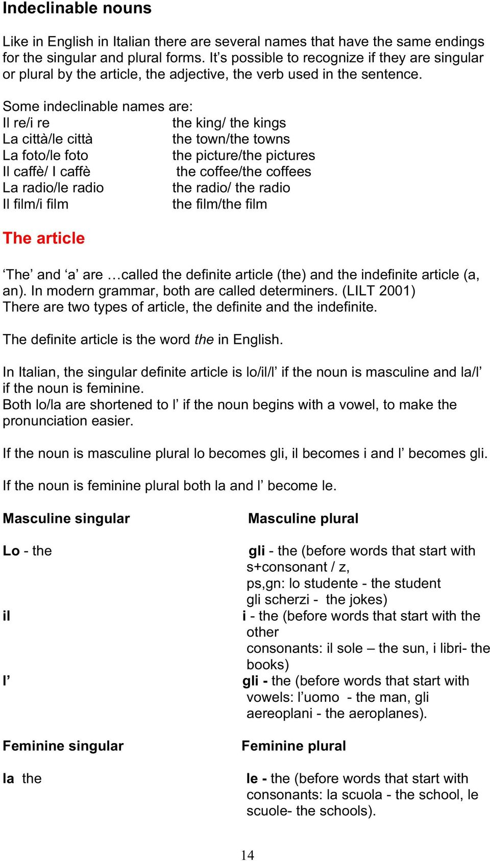 Mfle Italian Reference Grammar Pdf Free Download