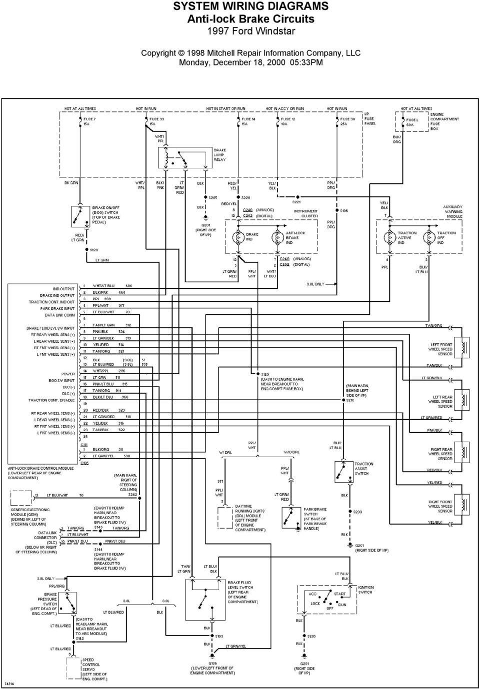 1997 ford wiring diagrams ac