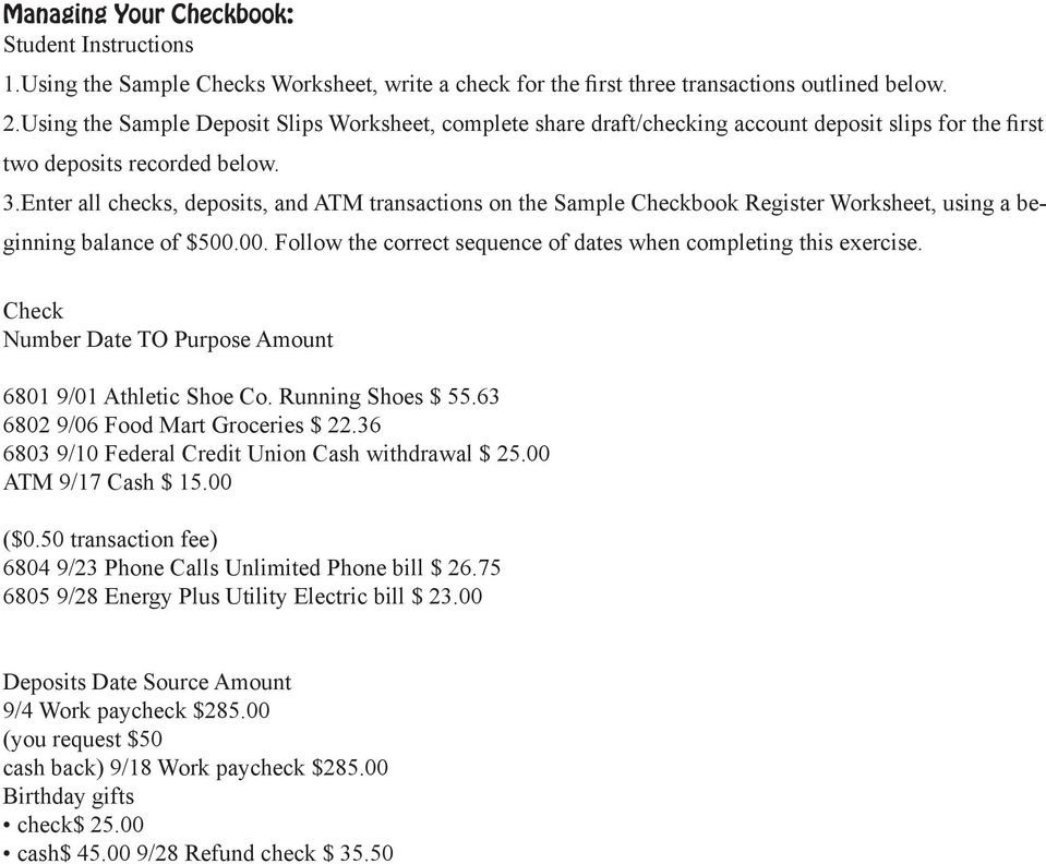 Checking 101 Checking Out Checking Accounts - PDF