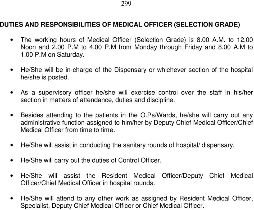 DUTIES AND RESPONSIBILITIES OF CHIEF MEDICAL OFFICER - PDF