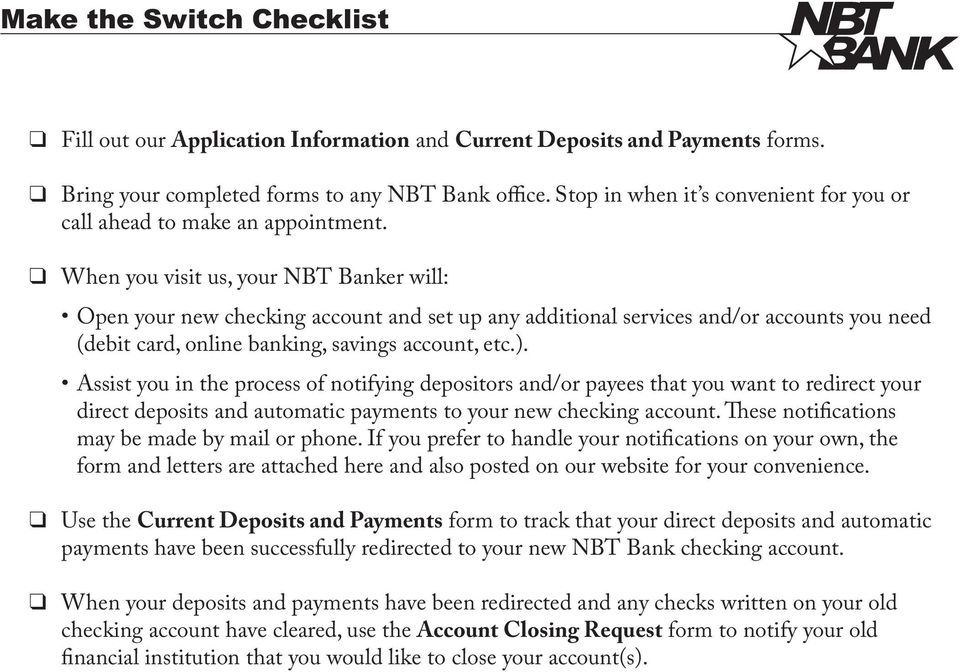 Make the Switch Checklist - PDF