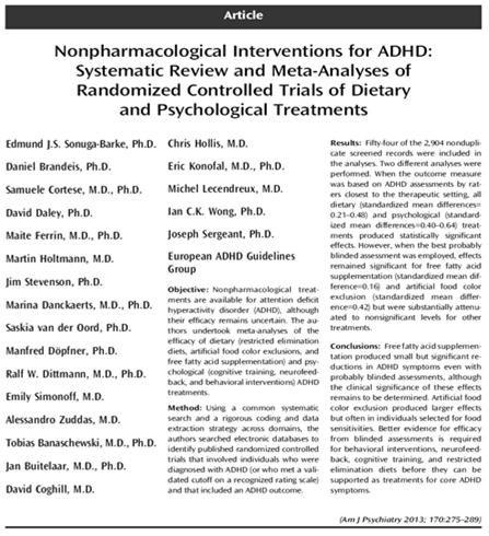 ADHD Overview New(er) Medication Treatments for ADHD Developmental
