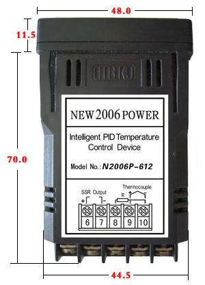 N2006P PID TEMPERATURE CONTROLLER The Installation  Wiring Diagrams