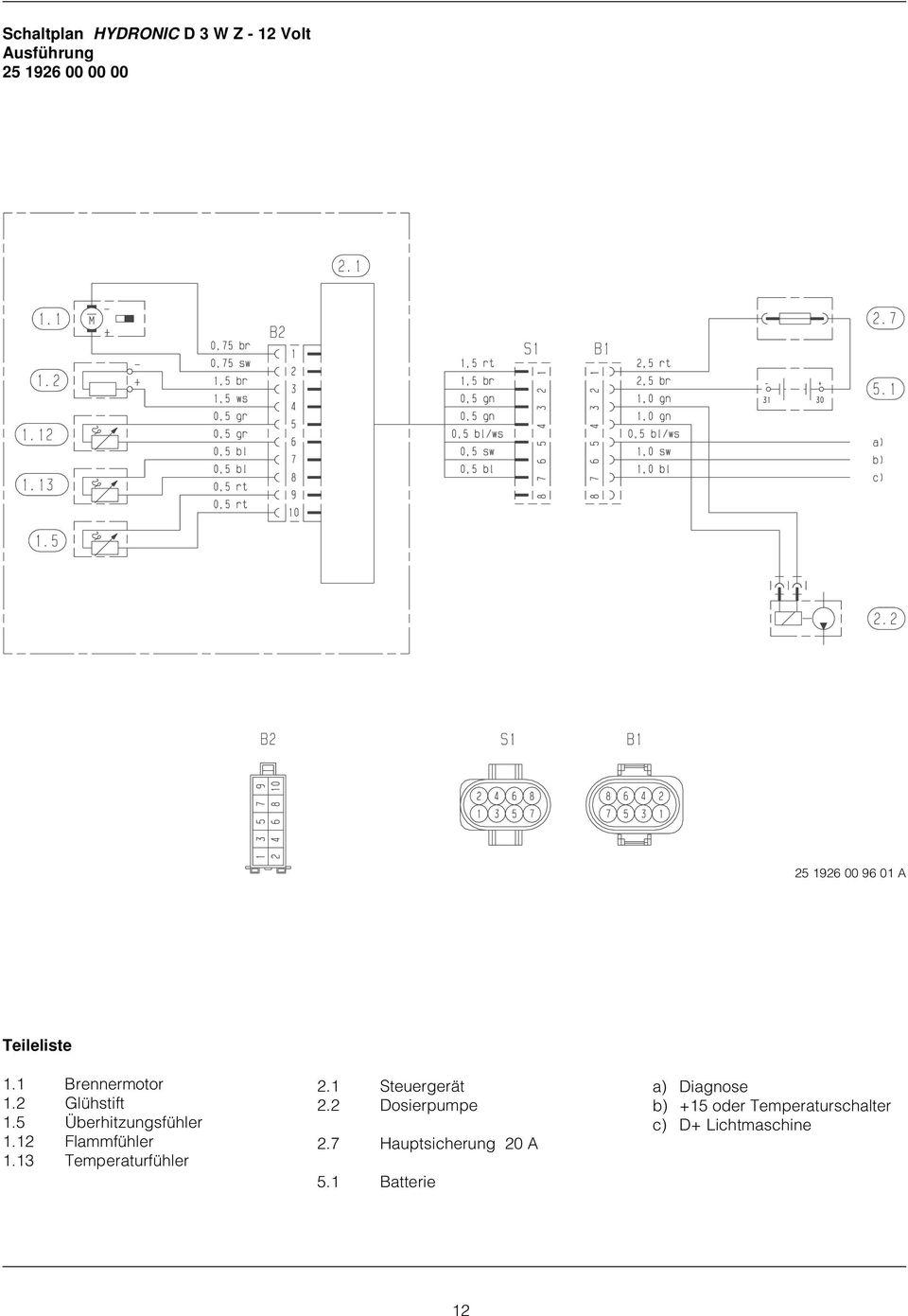 schaltplan hydronic b 4 w