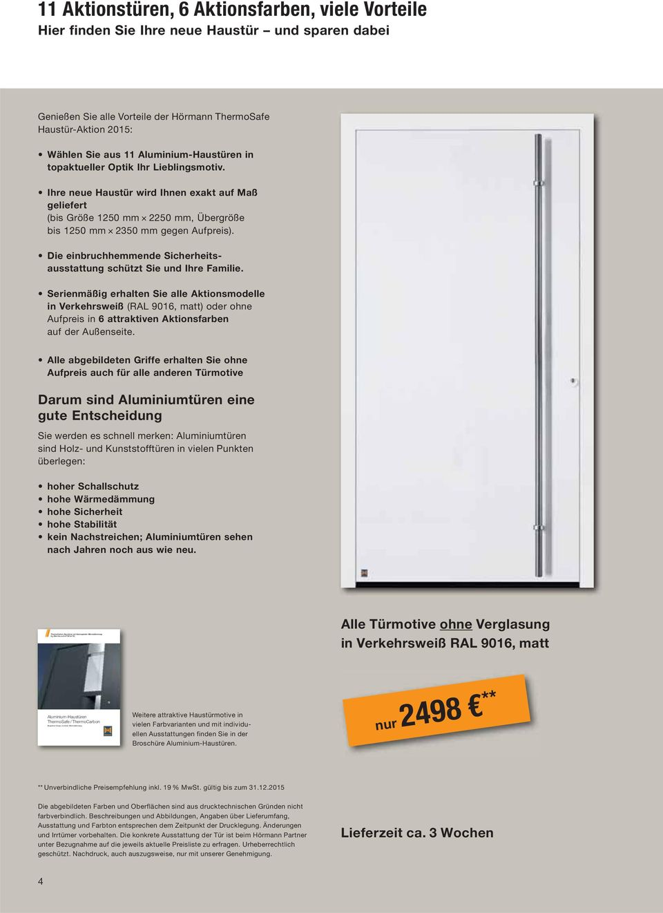 Haustür Hörmann Renodoor Thermosafe Haustür Aktion Pdf