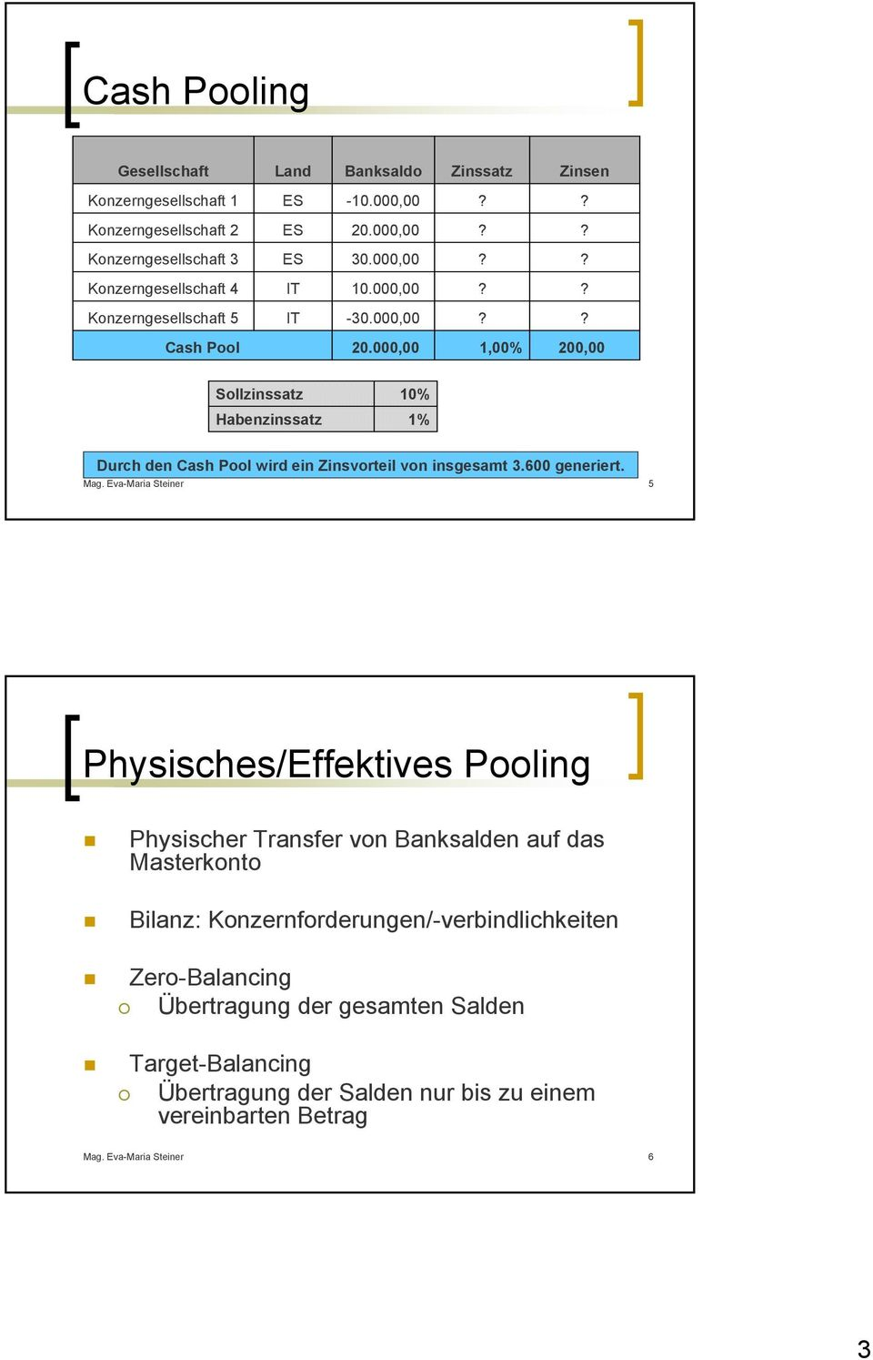 Cash Pool Leipzig Cash Pooling In Der Praxis Pdf