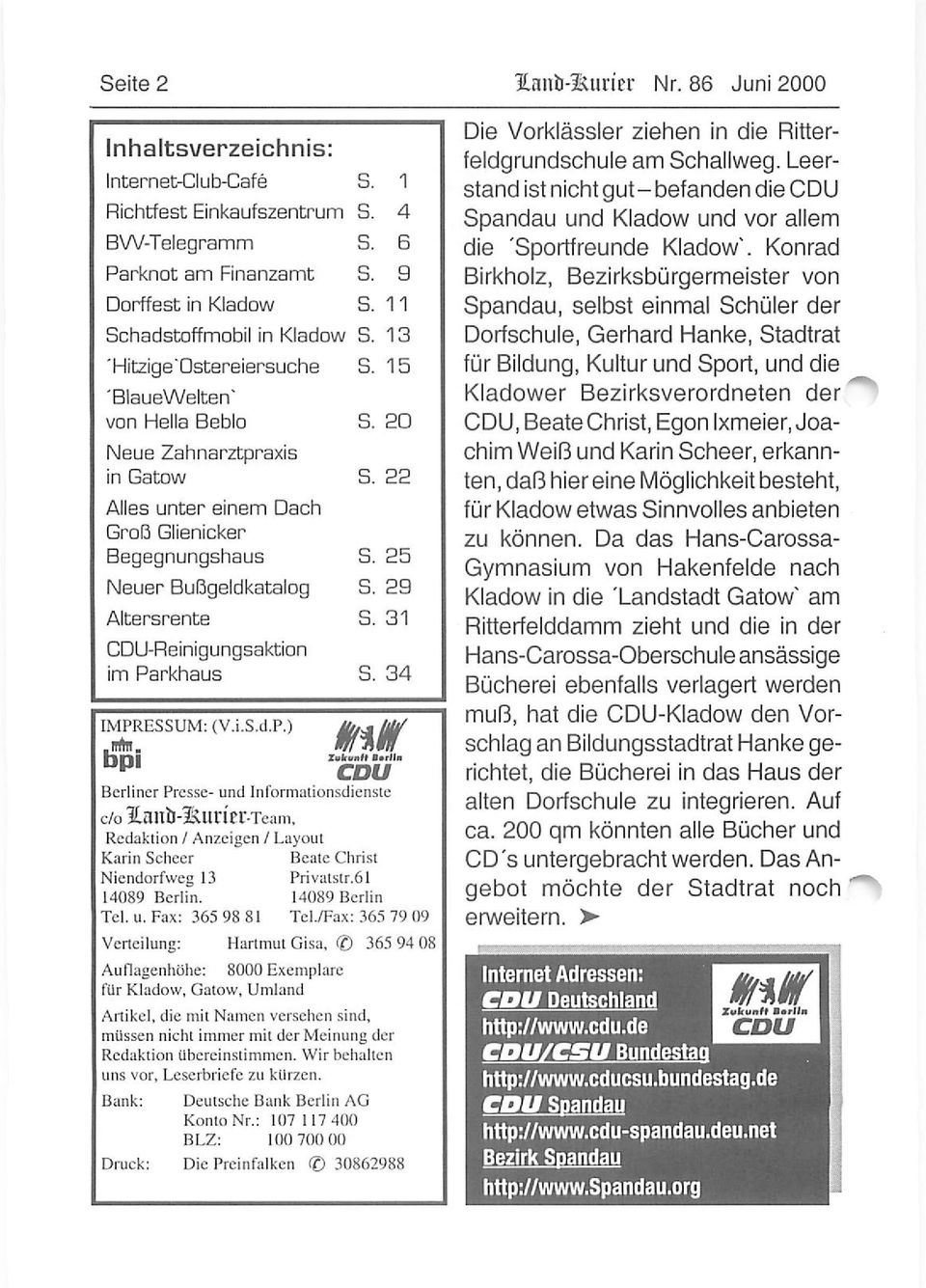 Zahnarzt Kladow Internet-club-cafe In Kladow - Pdf Kostenfreier Download