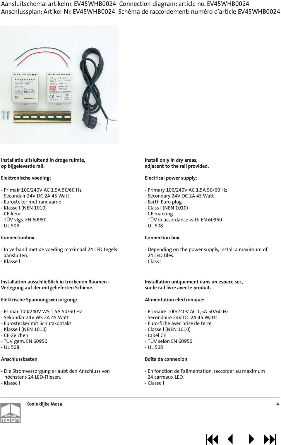 Led Aansluiten Montagehandleiding Led Tegels Fixing And Installation Instructions