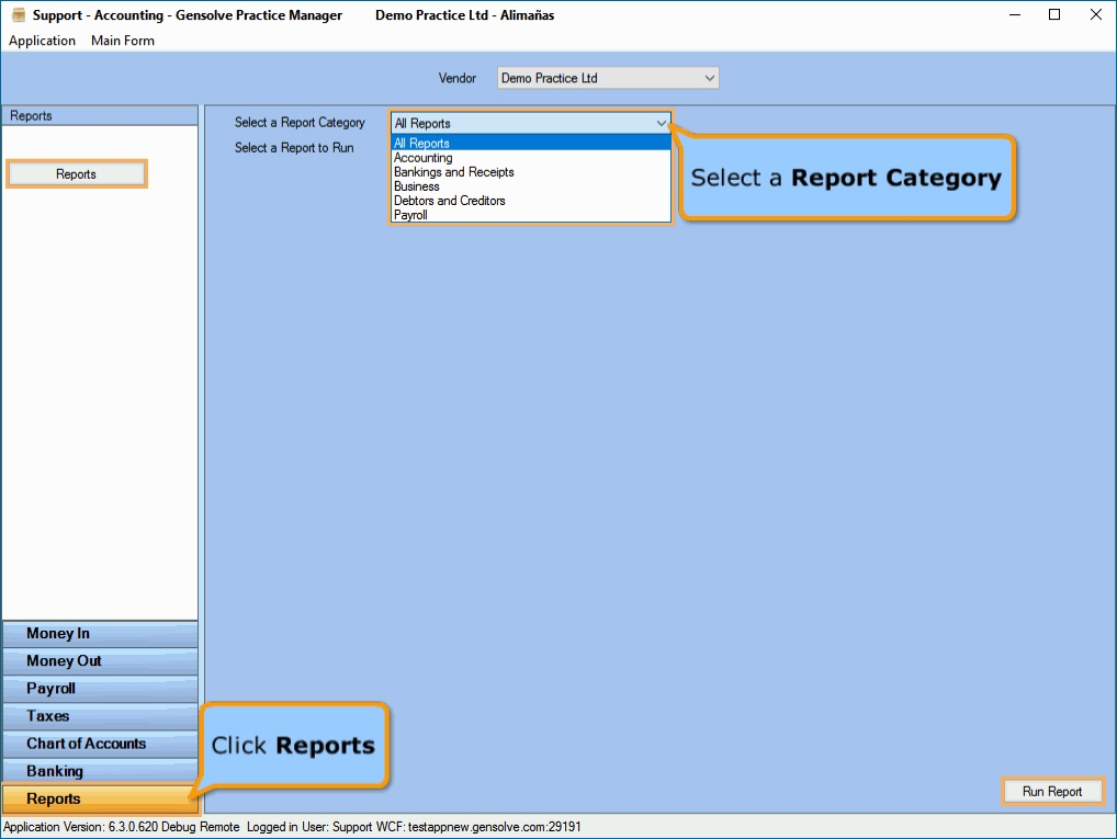 GPM AU Support Centre - GPM Built-In Reports - Accounting Form