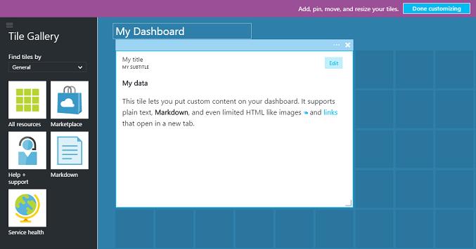 Erstellen Und Freigeben Von Dashboards Im Azure Portal