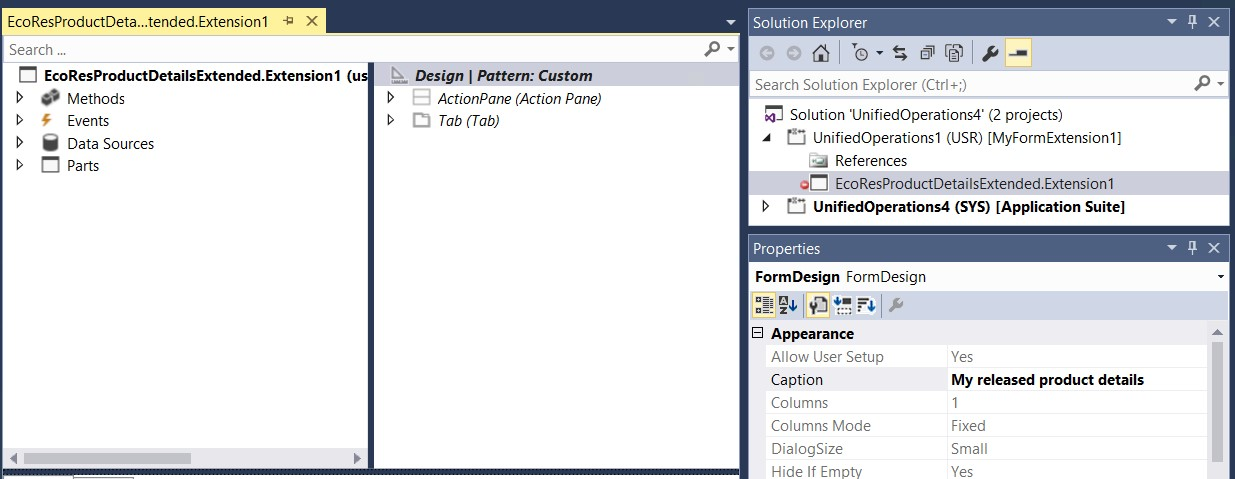 Change the caption of a form - Finance  Operations Dynamics 365