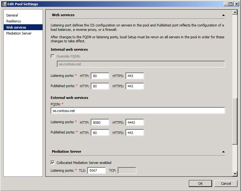 Lync Server 2013 Change the Web Services URL Microsoft Docs