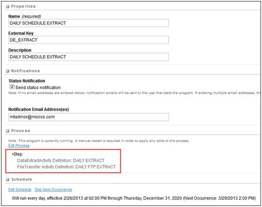 Importing Campaign Statistics from ExactTarget
