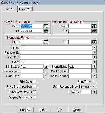 Pro Forma Invoice (REP_PROFORMA_INVOICEREP with