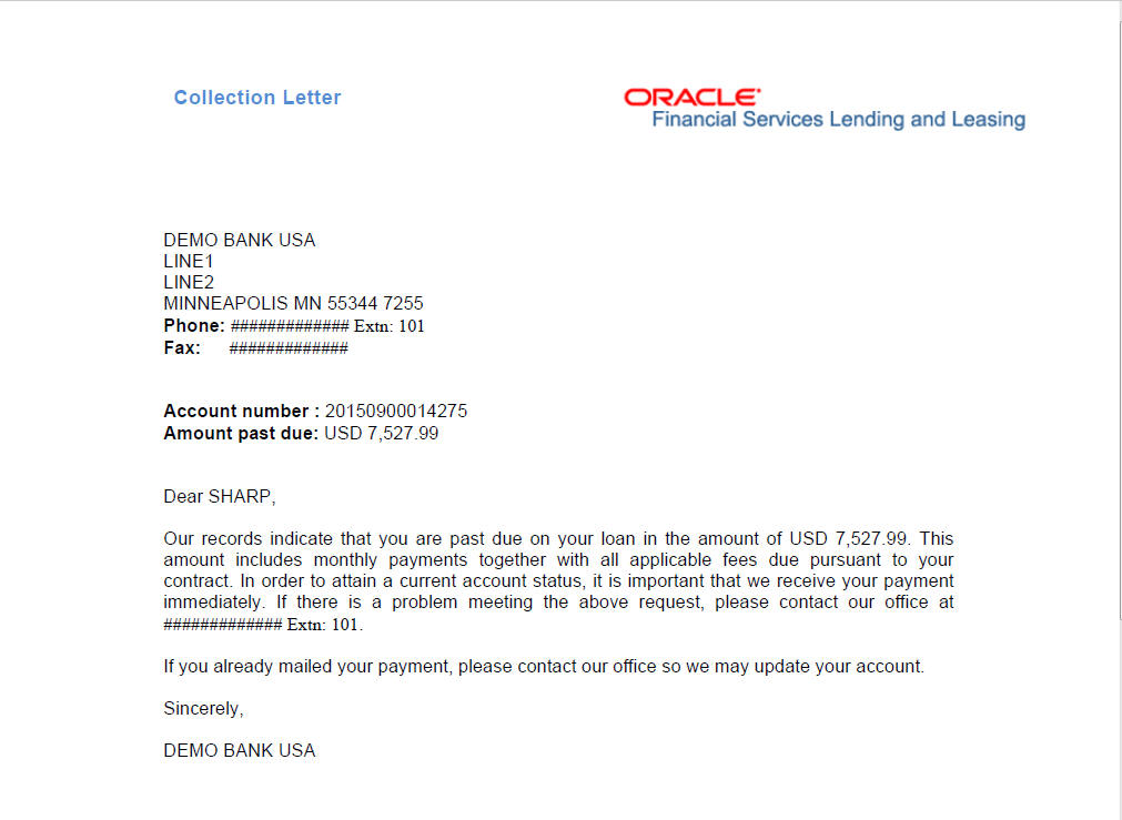 Updated status information request letter