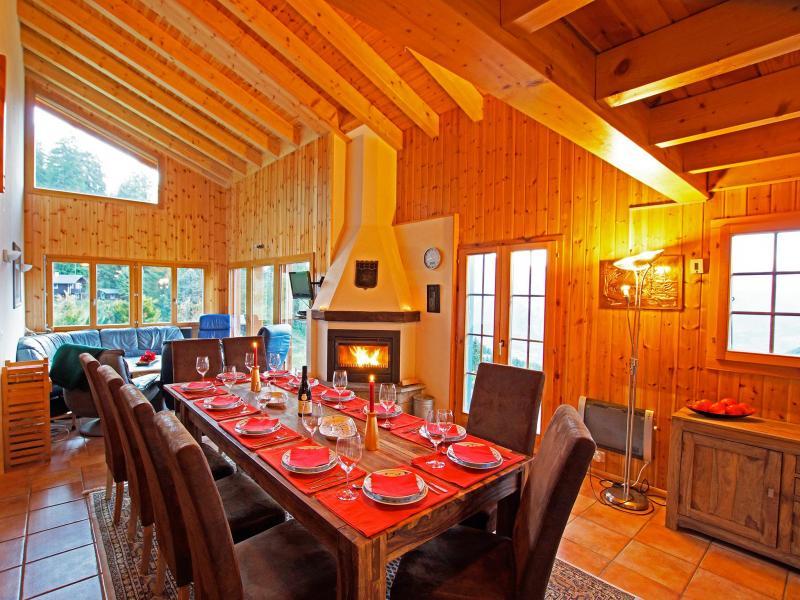 Vermietung Ski Urlaub La Tzoumaz - Chalet Alpina P12 - esszimmer chalet