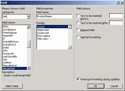 SoftArtisans OfficeWriter - mail merge template