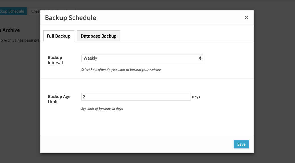 How to Create a Backup Schedule ThemeFuse - create schedule