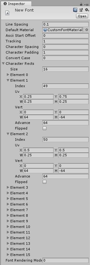 Unity - Руководство: Шрифт (Font)