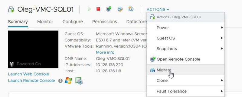 Migration of Standalone SQL Server Workload Step-By-Step Guide