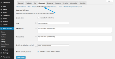 Cash on Delivery - WooCommerce Docs