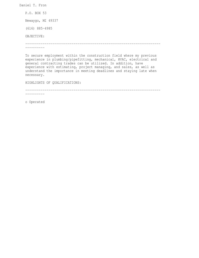 Plumber Cover Letter Plumber Cover Letter Example Icoverorguk