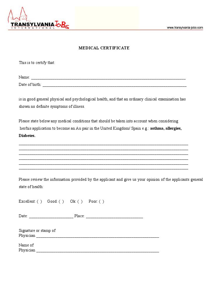 Download Medical Certificate - DocSharetips - medical certificate download