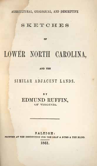Edmund Ruffin, 1794-1865 Agricultural, Geological, and Descriptive