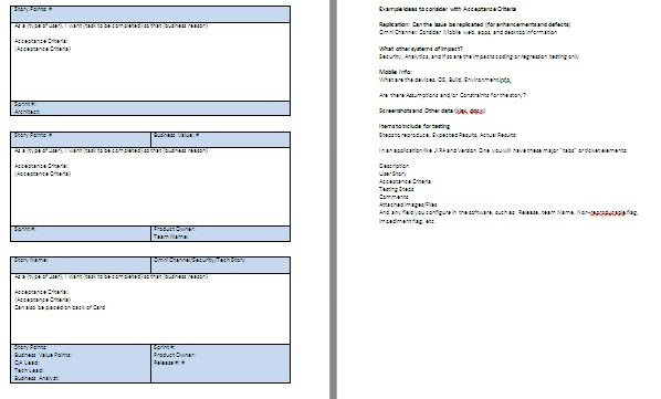 user story document template - Onwebioinnovate - end user documentation template