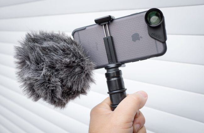 Rode VideoMic Me on an iPhone 6s rig