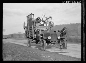 Tenant farmer moving his household goods to a new farm. Hamilton County, Tennessee, Rothstein, Arthur, 1937.