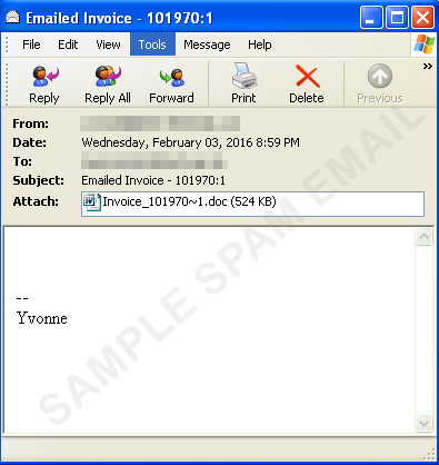 Spammers Send Out Another Fake Invoice with DRIDEX - Enciclopédia de